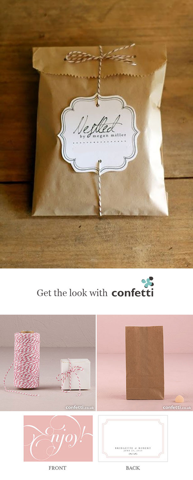 Creative gift wrapping |Personalised brown paper bag gift wrapping | Confetti.co.uk
