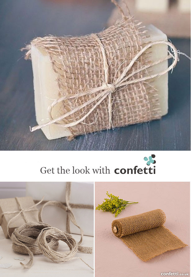 Creative gift wrapping |Burlap wrap and twine gift wrapping | Confetti.co.uk