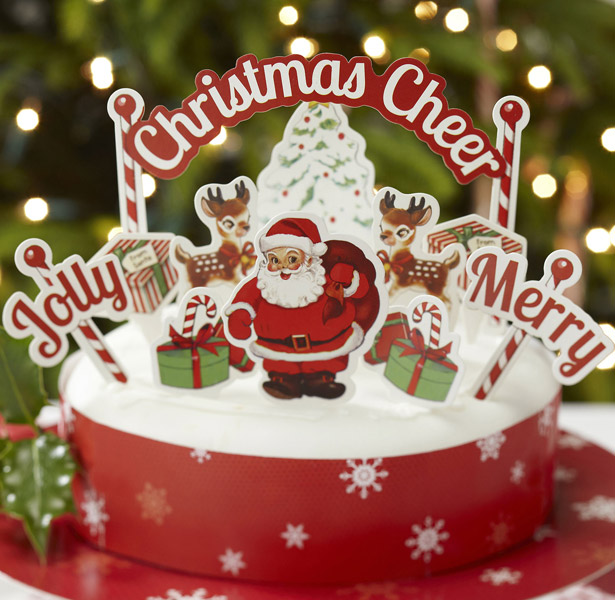 Christmas Cheer Cake Decoration Kit | First Christmas as Mr and Mrs | Confetti.co.uk