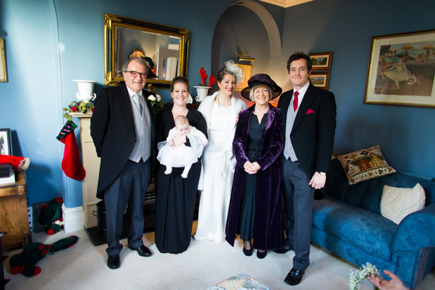 Bride with her family | Abigail and Chris's Real Christmas Wedding | Confetti.co.uk
