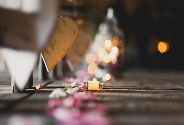 Amazing DIY Ideas From Our Real Weddings | Tea light candles | Rose petals | DIY aisle deocortion ideas | Confetti.co.uk