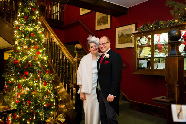 Christmas wedding decor | Abigail and Chris's Real Christmas Wedding | Confetti.co.uk