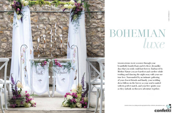Bohemian Luxe Wedding Theme from Confetti.co.uk