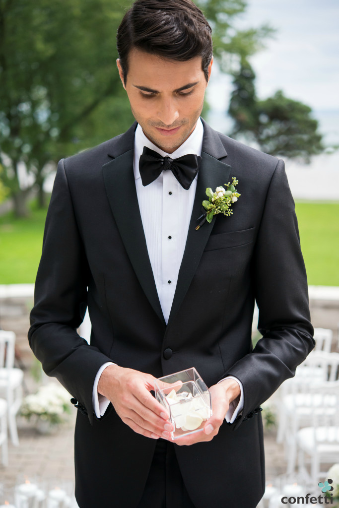 Dapper Groom with Ring in Acrylic Ring Box from Confetti.co.uk