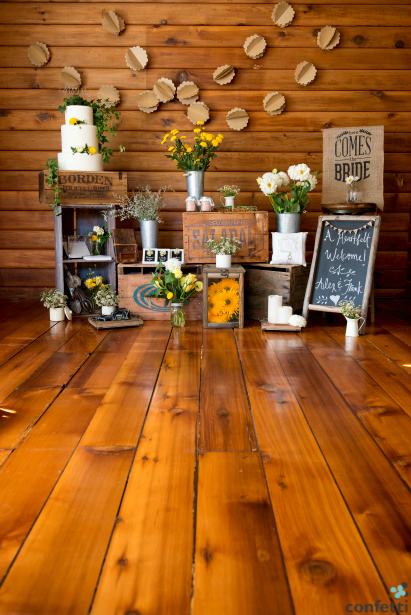 New products in the rustic wedding
