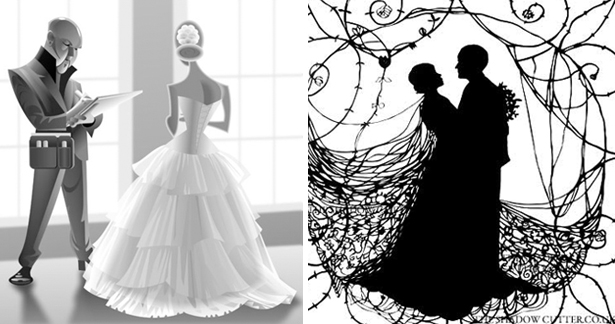 Wedding caricatures and silhouettes | Confetti.co.uk