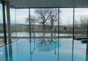 Swimming pool at the Stanley House Hotel and Spa venue Lancashire