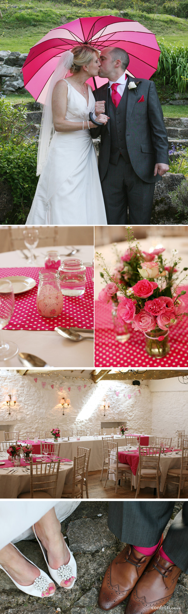 Laura and Matt's Pink and Polka Dot Real Wedding | Confetti.co.uk