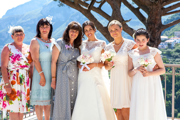 The bride with her female wedding guests | Wedding moments you want to capture | Leanne and Chris's Real Italian Wedding | Confetti.co.uk