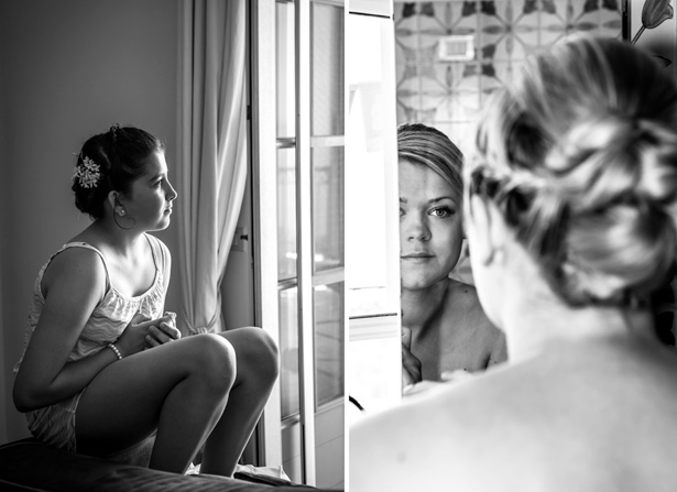 Bridesmaids getting ready for the big day | Leanne and Chris's Real Italian Wedding | Confetti.co.uk