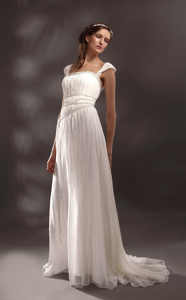 Greek Goddess Style Wedding Dresses Confetti