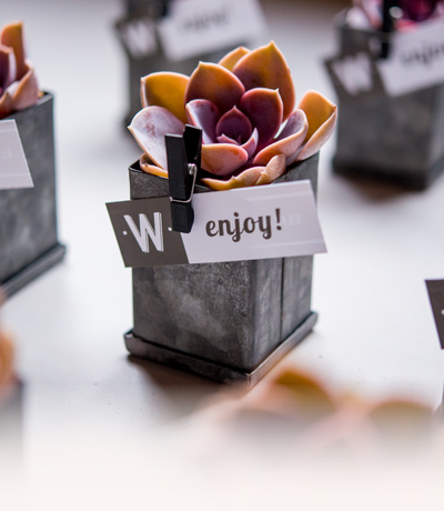 Industrial Chic Wedding Favours from Confetti.co.uk