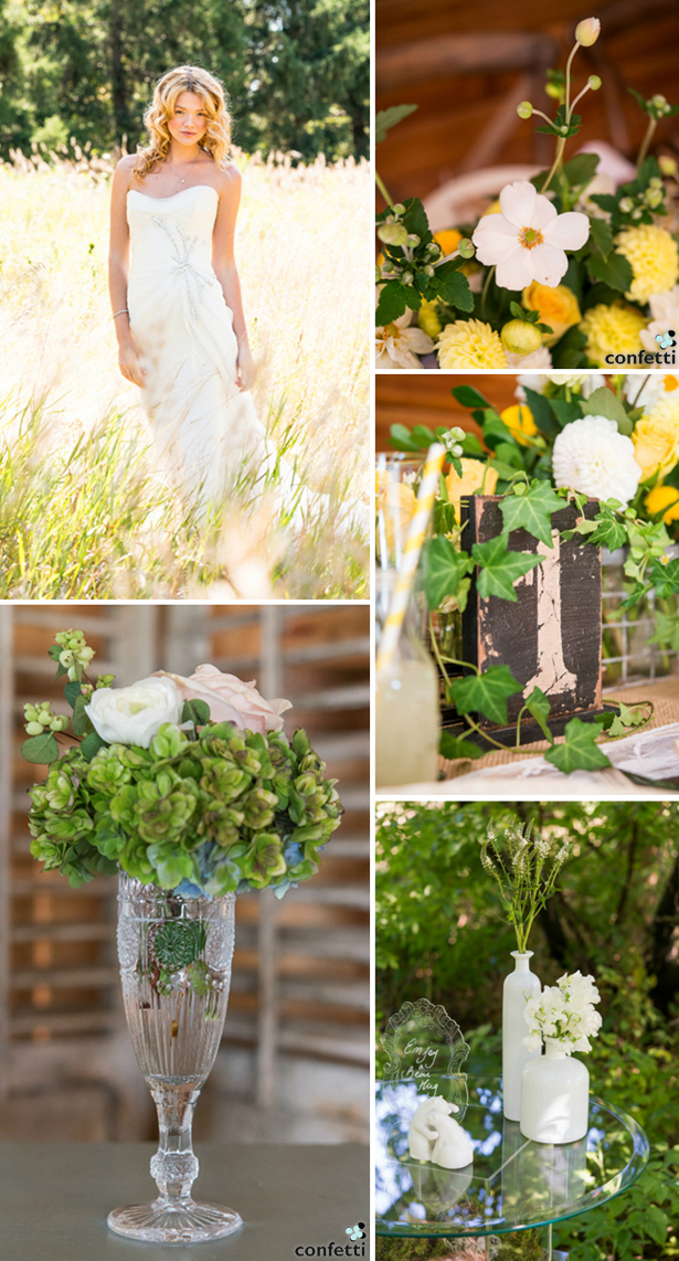 White and Yellow Wanderlusrt Wedding Ideas | Confetti.co.uk