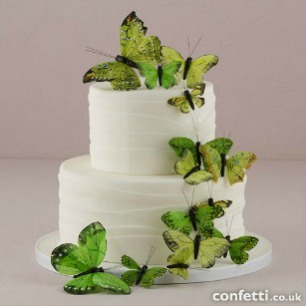 Green butterfly cake topper