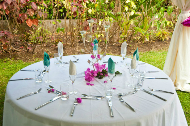 Pollards Mill table setting for a reception from Confetti.co.uk