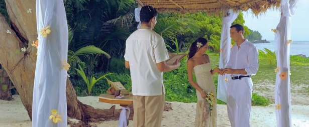 Beachcomber Seychelles wedding on beach