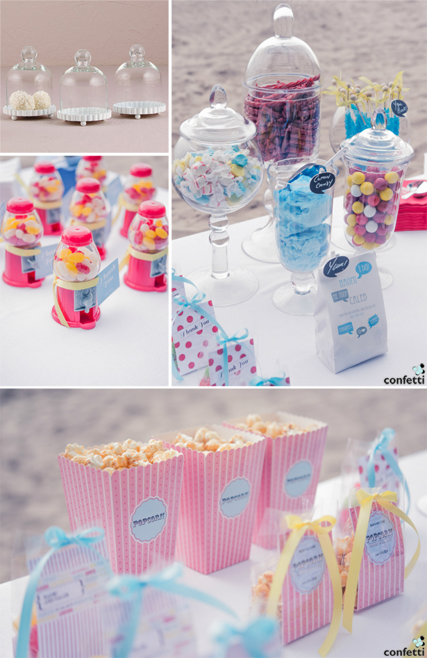 Retro wedding sweetie  buffet | Confetti.co.uk