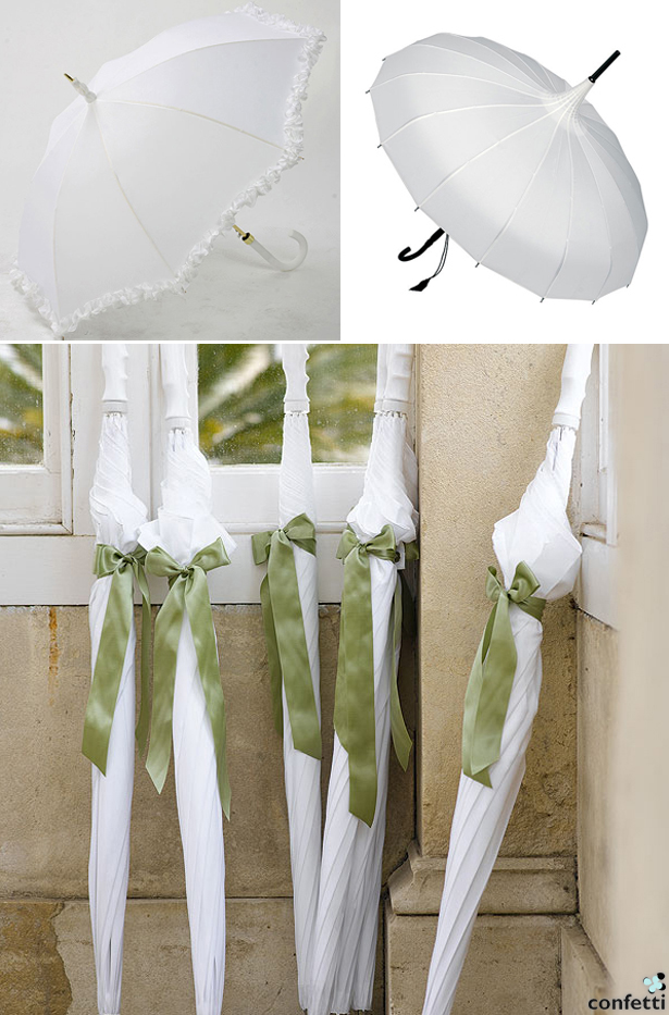 Selection of Wedding Umbrellas | Confetti.co.uk