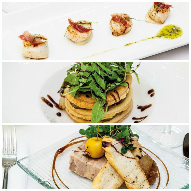 Scallops, mushroom mille-feuille and pork rillettes from Salomon's Estate | Confetti.co.uk