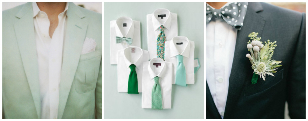 Green Groomsmen Inspiration from Confetti.co.uk