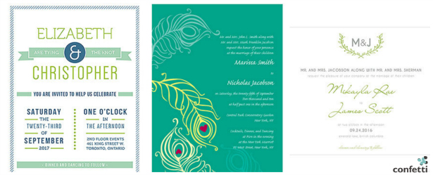 Green wedding invitation inspiration from Confetti.co.uk