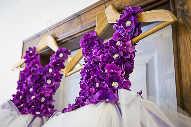 Purple floral flower girl dresses | Precious and Jerald's real wedding | Confetti.co.uk