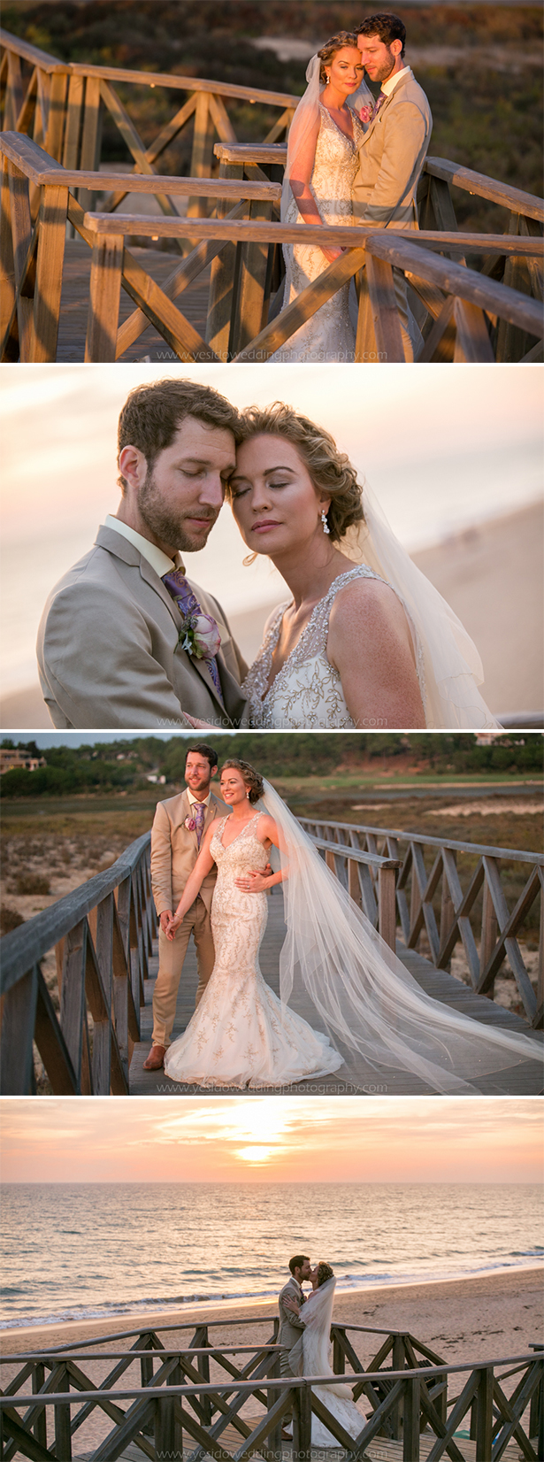 The bride and groom on the beach   Marina and Gary's lavender real wedding   Yes I do! Algarve Wedding Photography   Confetti.fo.uk