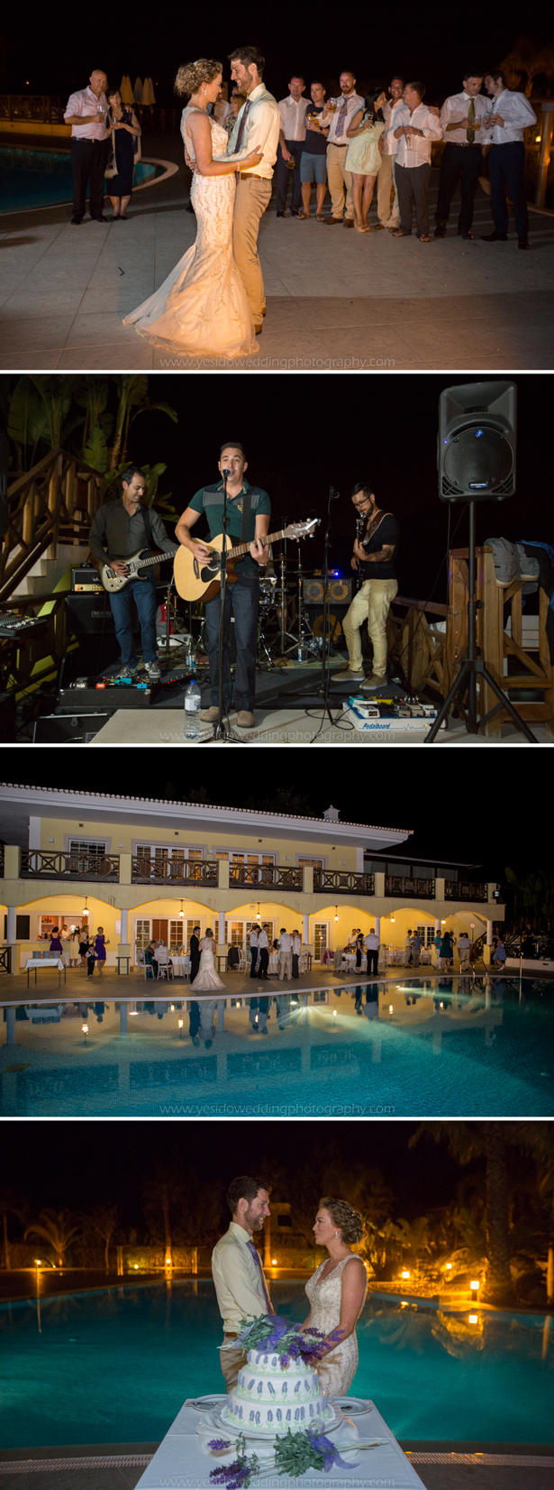 The first dance and live band   Marina and Gary's lavender real wedding   Yes I do! Algarve Wedding Photography   Confetti.fo.uk