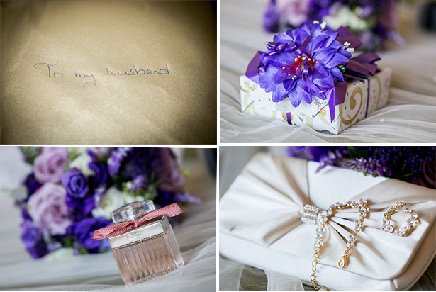 Bridal accessories and gifts | Marina and Gary's lavender real wedding | Yes I do! Algarve Wedding Photography | Confetti.fo.uk