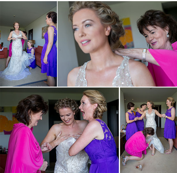 Bridesmaids helping the bride get ready for her big day   Marina and Gary's lavender real wedding   Yes I do! Algarve Wedding Photography   Confetti.fo.uk