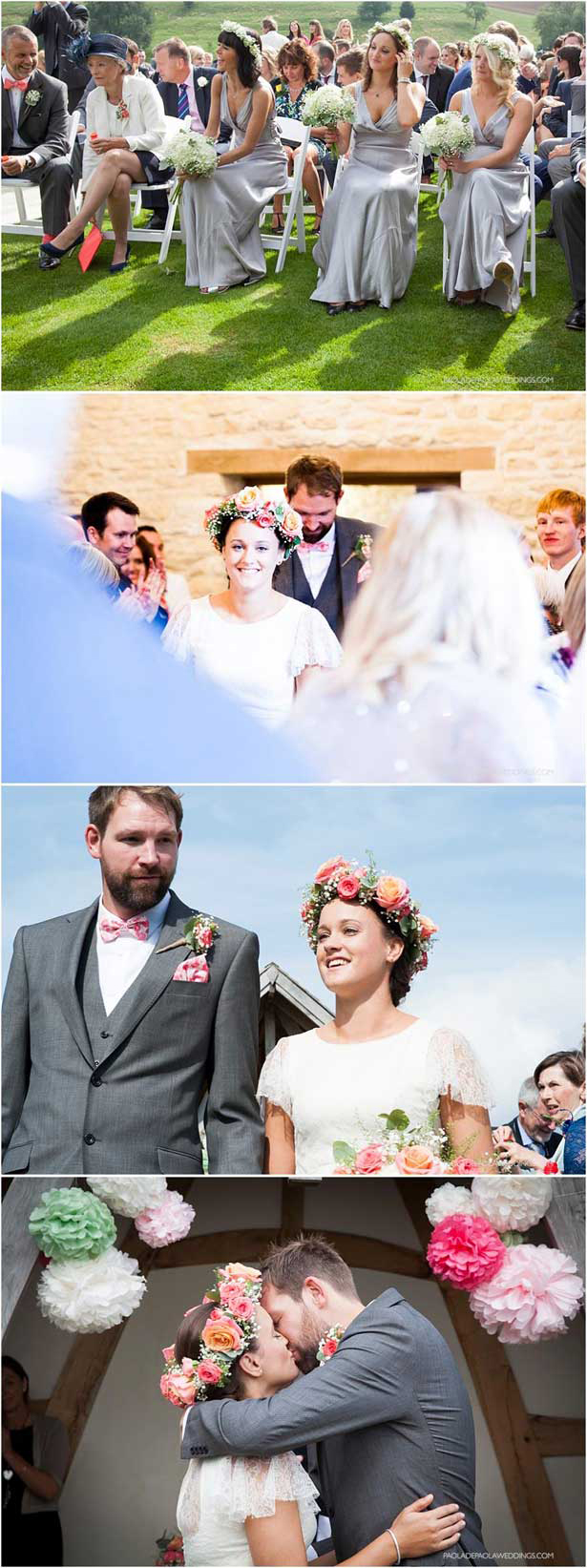 Boho out door wedding ceremony | Lauren and David's real wedding | Confetti.co.uk