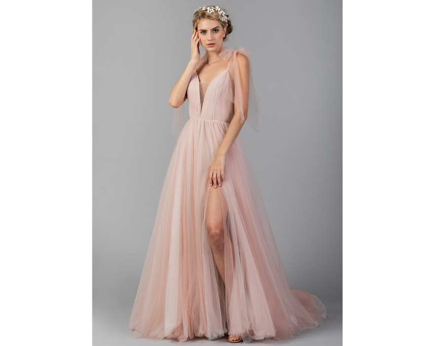 Pink Wedding Dresses 27 Blush Hued Beauties Confetti