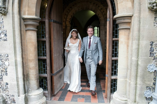 Contemporary wedding suit by King and Allen at Lucy and Adam's Real Wedding | Confetti.co.uk