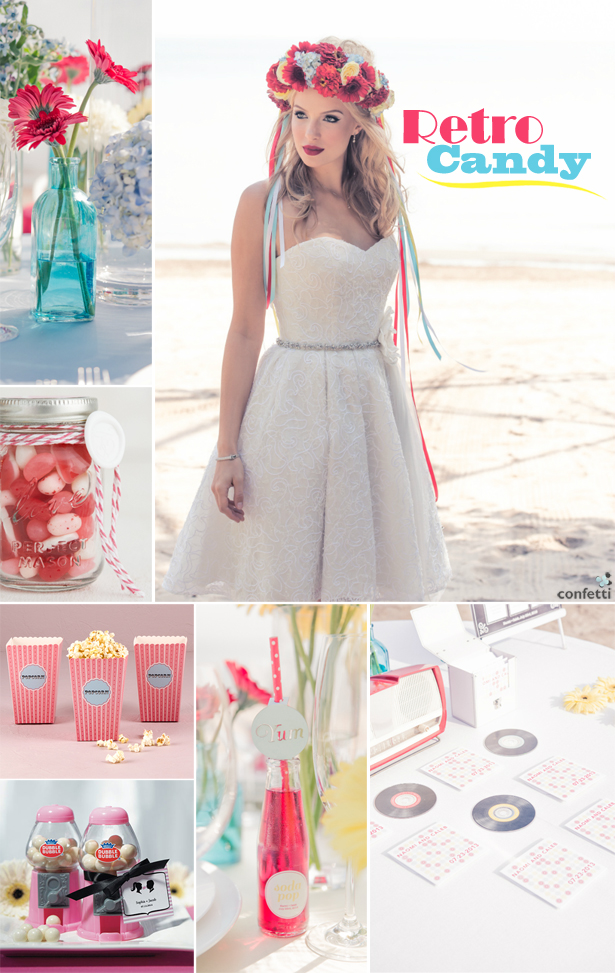 Retro Candy Wedding | Confetti.co.uk