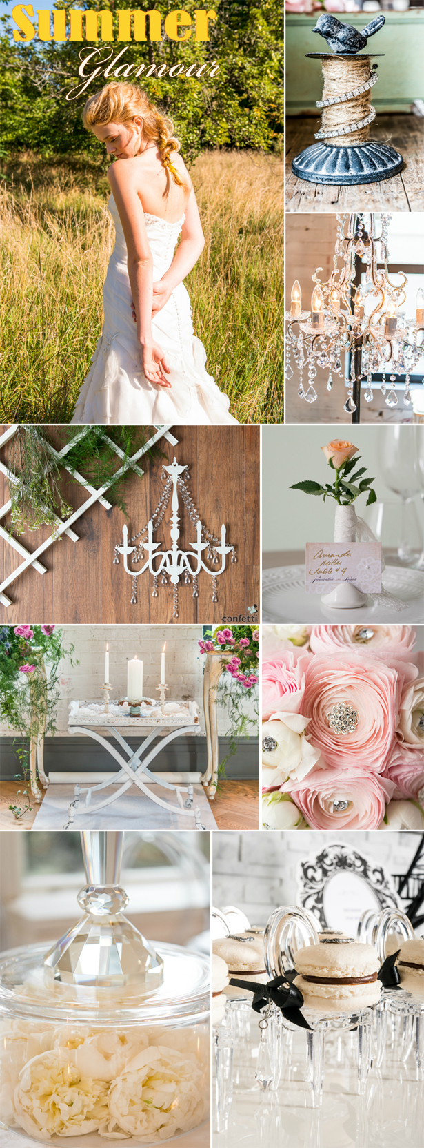 Summer Glamour Wedding | Confetti.co.uk