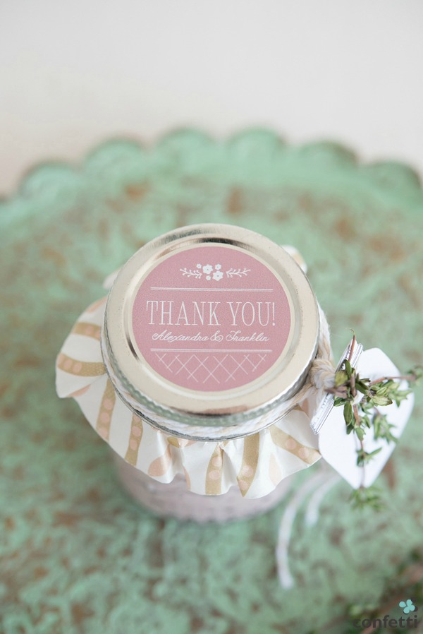 Homemade Dressing Mini Mason Jar Favour | Confetti.co.uk