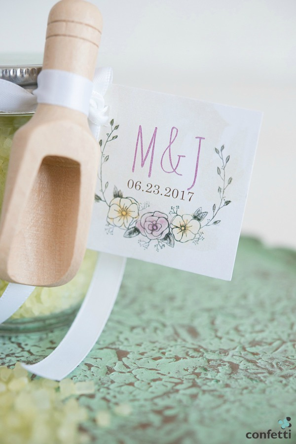 Bath Salt Mini Mason Jar Favour | Confetti.co.uk