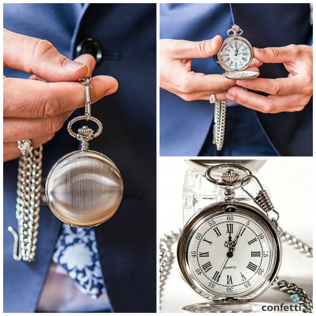 Personalised silver pocket watch | Confetti.co.uk