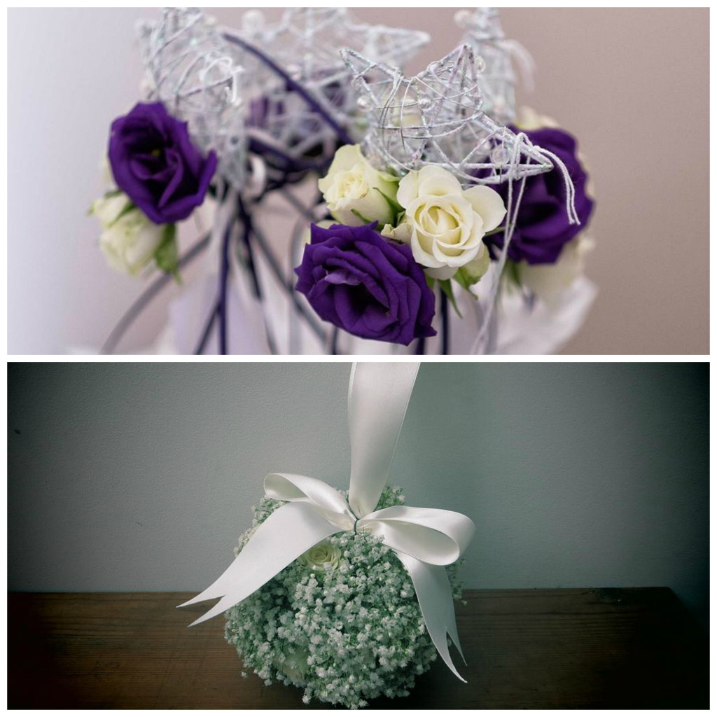 Flower girl wands and pomanders from Apple Blossom | Confetti.co.uk