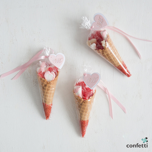 Sweet Cone Mini Wedding Favour | DIY wedding favour Ideas | More wedding tips at Confetti.co.uk