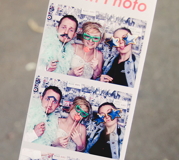 Photobooth picture of the bride and groom | Georgina and Edward's real wedding | Confetti.co.uk