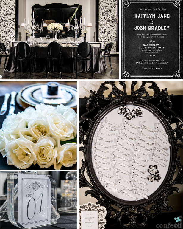Monochrome Wedding Styling | Confetti.co.uk