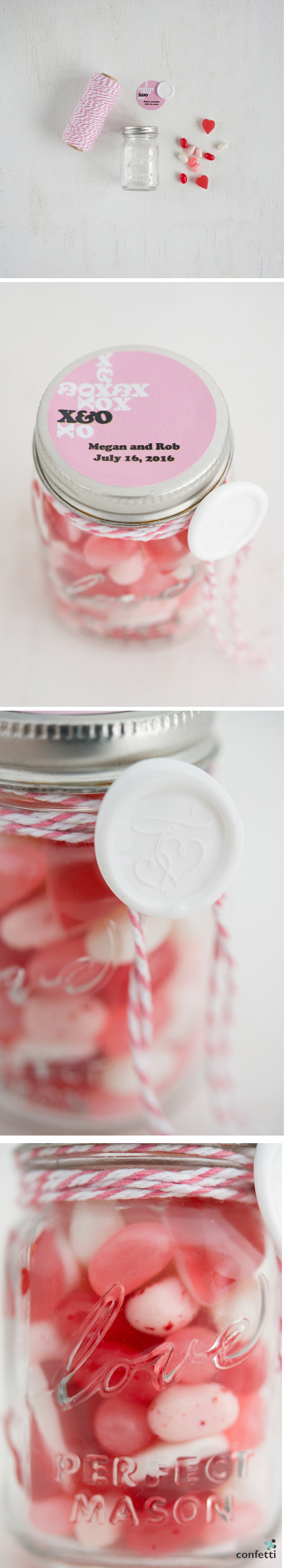 Sweet Heart Mason Jar Wedding Favour | DIY Wedding Favour Ideas | More Wedding Tips at Confetti.co.uk