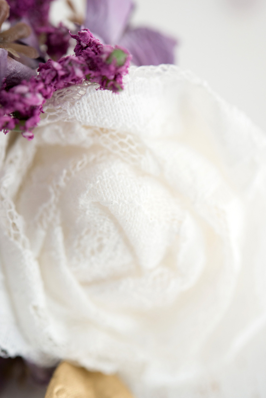 Floral Lace Wedding Reception Decor | Confetti.co.uk