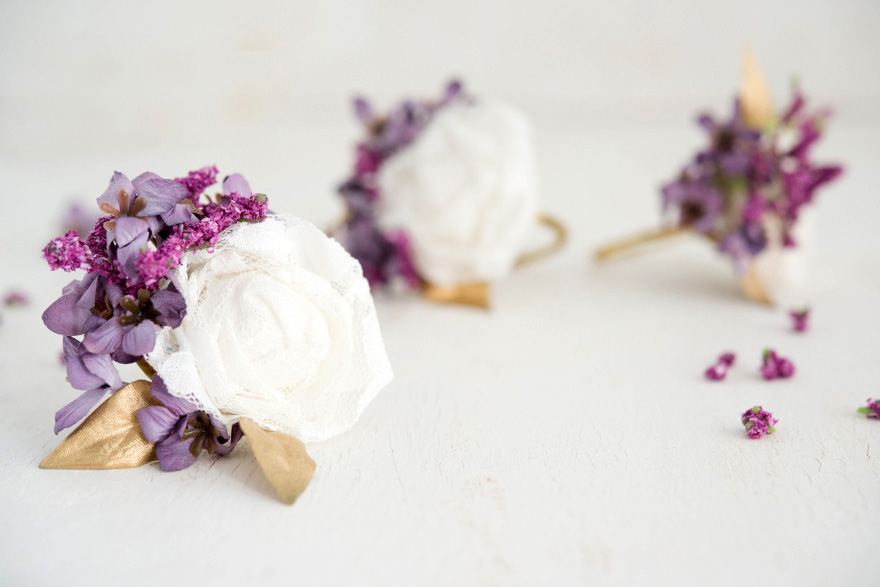Lace Flower Napkin Rings | Confetti.co.uk