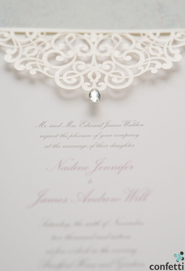 Vintage Pearl Romance Invitation | Confetti.co.uk