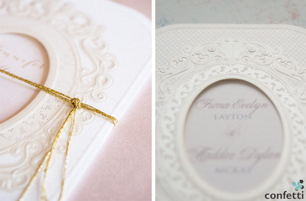 Vintage Pearl and Lace Invitations | Confetti.co.uk