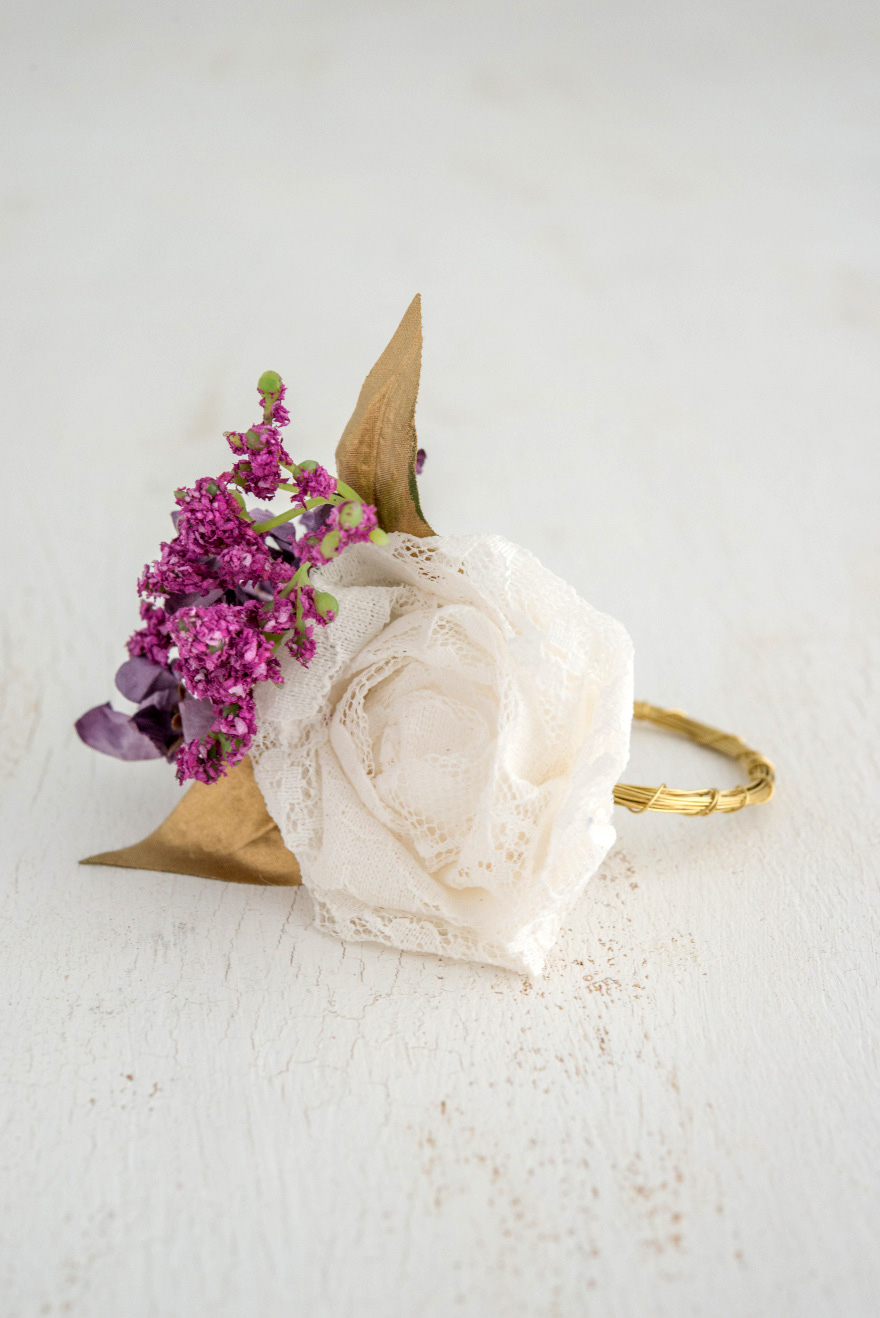 White Purple and Gold Napkin Ring Wedding Decor | Confetti.co.uk