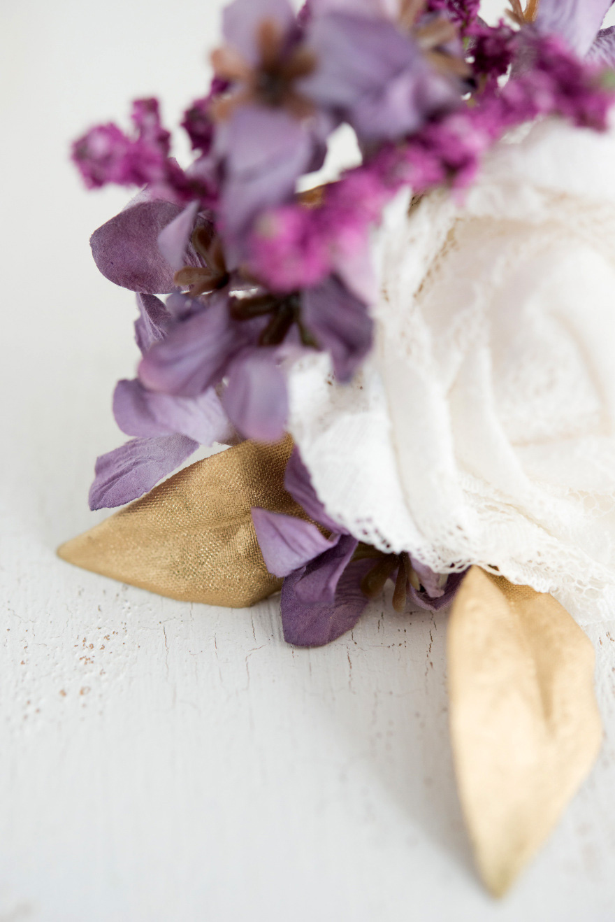 White Purple and Gold Wedding Decor | Confetti.co.uk