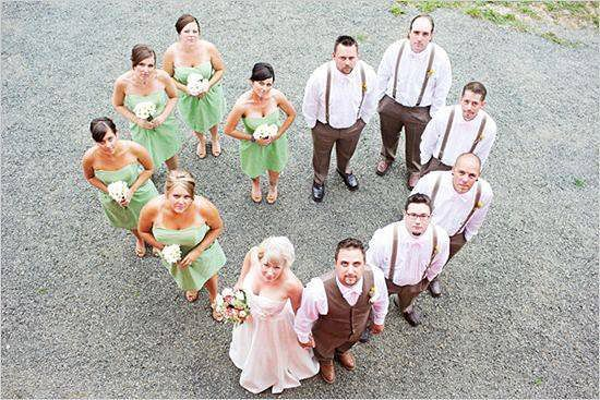 Wedding party photo using a drone camera | Confetti.co.uk
